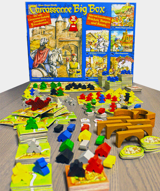 Carcassonne Big Box - All the game materials